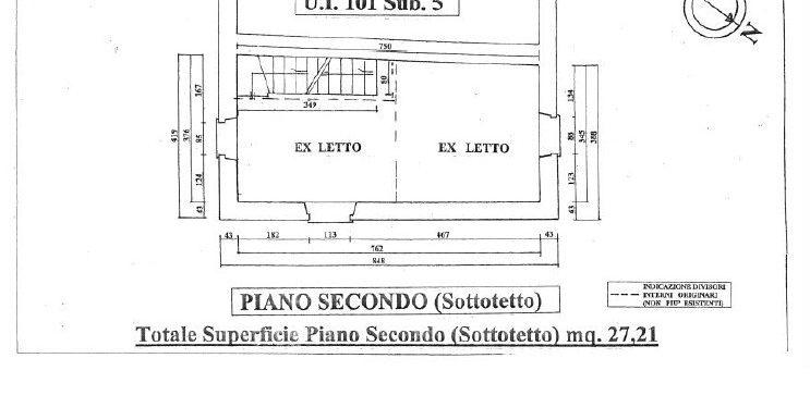3-rustic second floor plan-Mulino di Smirra
