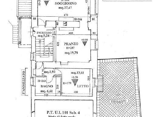 4-s569-ground floor plan- Mulino di Smirra