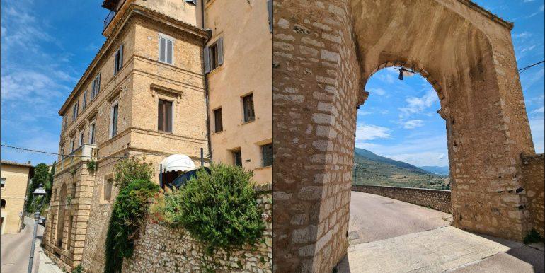 4-s599 - ancient hotel for sale in trevi - palazzo natalini - via dei colli